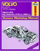 Volvo 142, 144 & 145 1966 - 1974 Haynes Owners Service & Repair Manual - Front Cover