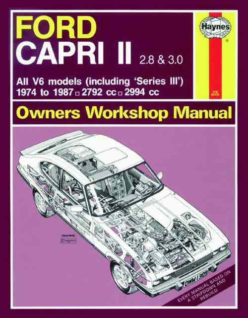 Ford Capri Series 2 & Series 3 1974 - 1987 Haynes Owners Service & Repair Manual - Front Cover