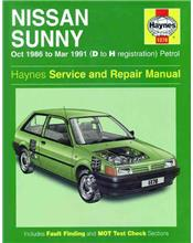 Nissan Sunny Petrol 1986 - 1991 Haynes Owners Service & Repair Manual