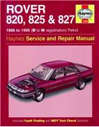 Rover 820, 825 & 827 1986 - 1995 Haynes Owners Service & Repair Manual - Front Cover