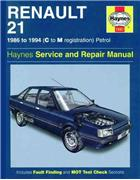 Renault 21 Petrol 1986 - 1994 Haynes Owners Service & Repair Manual