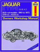 Jaguar E-Type 1961 - 1972 Haynes Owners Service & Repair Manual - Front Cover