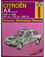 Citroen AX Petrol 1987 - 1989 Haynes Owners Service & Repair Manual