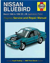 Nissan Bluebird Petrol 1986 - 1990 Haynes Owners Service & Repair Manual