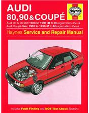Audi 80, 90 & Coupe (Petrol) 1986 - 1990 Haynes Owners Service & Repair Manual
