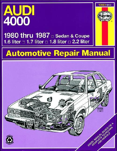 Audi 4000 1980 - 1988 Haynes Owners Service & Repair Manual - Front Cover