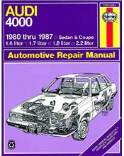 Audi 4000 (Petrol) 1980 - 1988 Haynes Owners Service & Repair Manual