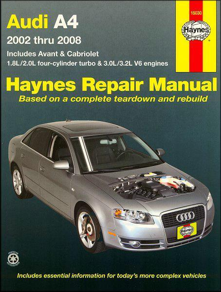 Audi A4 Petrol 2002 - 2008 Haynes Owners Service & Repair Manual - Front Cover