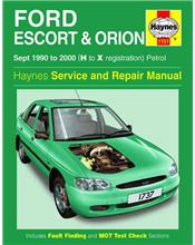 Ford Escort & Orion Petrol 1990 - 2000 Haynes Owners Service & Repair Manual