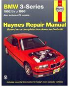 BMW 3 Series E36, E37 & Z3 1992 - 1998 Haynes Owners Service & Repair Manual