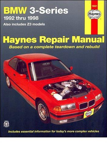 BMW 3 Series E36, E37 & Z3 1992 - 1998 Haynes Owners Service & Repair Manual - Front Cover