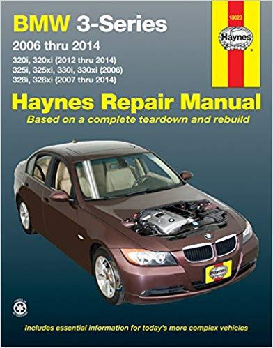 BMW 3-Series 2006 - 2010 Haynes Owners Service & Repair Manual - Front Cover
