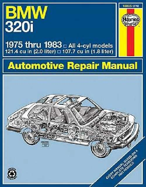 BMW 320i 1975 - 1983 Haynes Owners Service & Repair Manual - Front Cover