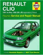 Renault Clio Petrol 1991 - 1998 Haynes Owners Service & Repair Manual