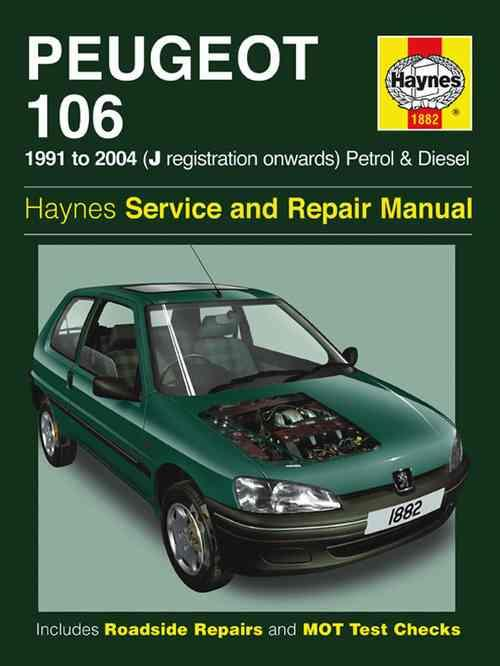 Peugeot 106 Petrol & Diesel 1991 - 2004 Haynes Owners Service & Repair Manual