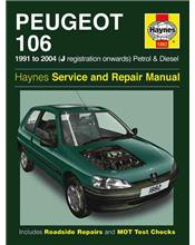 Peugeot 106 (Petrol & Diesel) 1991 - 2004 Haynes Owners Service & Repair Manual
