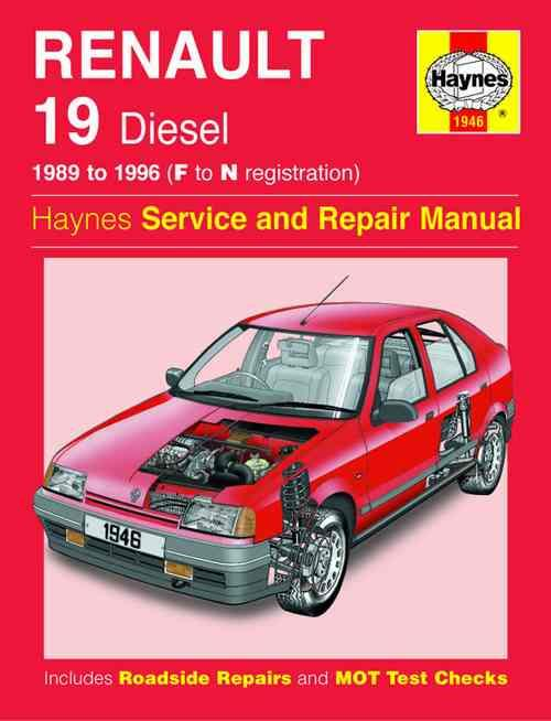 Renault 19 & Chamade Diesel 1989 - 1996 Haynes Owners Service & Repair Manual - Front Cover