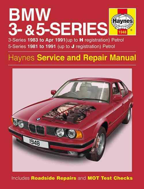 BMW 3 Series (E30) & 5 Series (E28 & E34) 1981 - 1991 - Front Cover