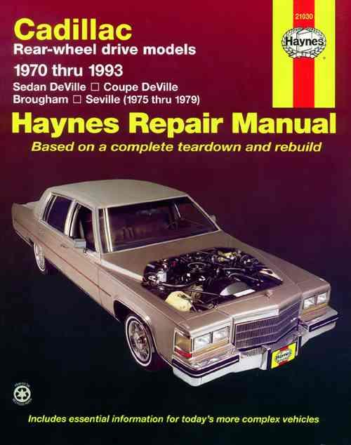 Cadillac Rear-Wheel Drive 1970 - 1993 Haynes Owners Service & Repair Manual - Front Cover