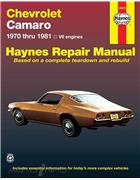 Chevrolet Camaro Z28 1970 - 1981 Haynes Owners Service & Repair Manual