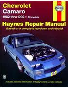 Chevrolet Camaro 1982 - 1992 Haynes Owners Service & Repair Manual