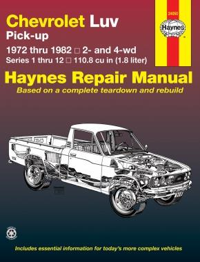 Chevrolet LUV Pick-Up 1972 - 1982 Haynes Owners Workshop Manual - Front Cover
