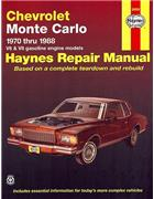 Chevy Monte Carlo 1970 - 1988 Haynes Owners Service & Repair Manual