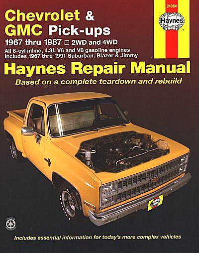 Chevrolet & GMC Pick-ups 1967 - 1987 Haynes Owners Service & Repair Manual - Front Cover