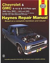 Chevrolet S-10, GMC S-15 Pick-ups, Blazer, Jimmy, Olds Bravada 1982 - 1993