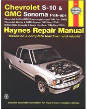 Chevrolet S10, GMC Sonoma Pick Ups 1994 - 2004
