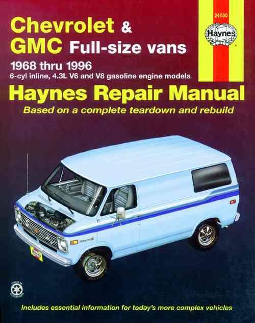 Chevrolet & GMC Vans 1968 - 1996 Haynes Owners Service & Repair Manual - Front Cover