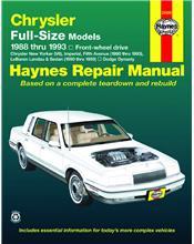 Chrysler/Dodge Full-Size FWD 1988 - 1993 Haynes Owners Service & Repair Manual