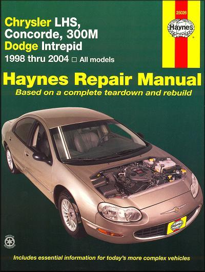 Chrysler LHS, Concorde, 300M & Dodge Intrepid 1998 - 2004 - Front Cover