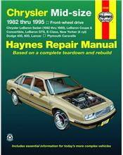 Chrysler Mid-Size (FWD) 1982 - 1995 Haynes Owners Service & Repair Manual