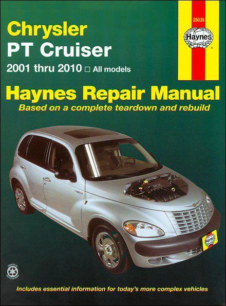 Chrysler PT Cruiser 2001 - 2010 Haynes Owners Service & Repair Manual