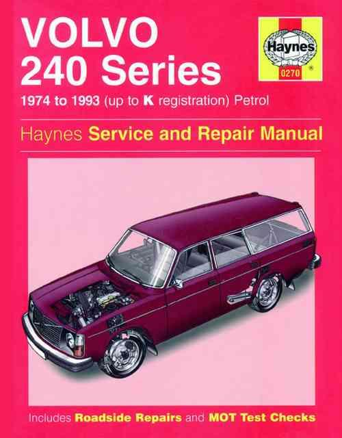 Volvo 240 Series Petrol 1974 - 1993 Haynes Owners Service & Repair Manual - Front Cover