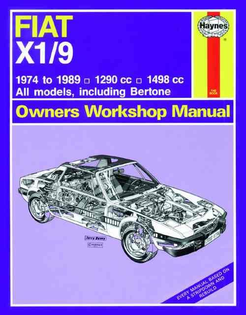 Fiat X1/9 1974 - 1989 Haynes Owners Service & Repair Manual - Front Cover