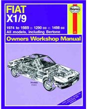 Fiat X1/9 1974 - 1989 Haynes Owners Service & Repair Manual