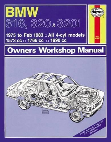BMW 316, 320 & 320i 1975 - 1983 Haynes Owners Service & Repair Manual - Front Cover