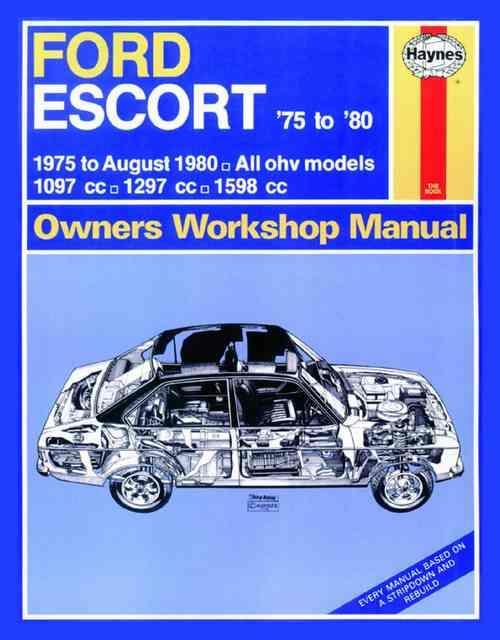Ford Escort 1975 - 1980 Haynes Owners Service & Repair Manual - Front Cover