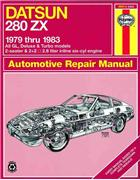 Datsun 280ZX 1979 - 1983 Haynes Owners Service & Repair Manual - Front Cover