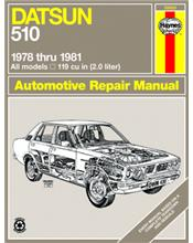 Datsun 510 (Petrol) 1978 - 1981 Haynes Owners Service & Repair Manual