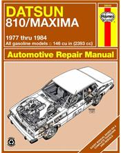 Datsun 810 / Maxima (Petrol) 1977 - 1984 Haynes Owners Service & Repair Manual
