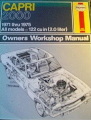 Ford Capri 2000 1971 - 1975 Haynes Owners Service & Repair Manual - Front Cover