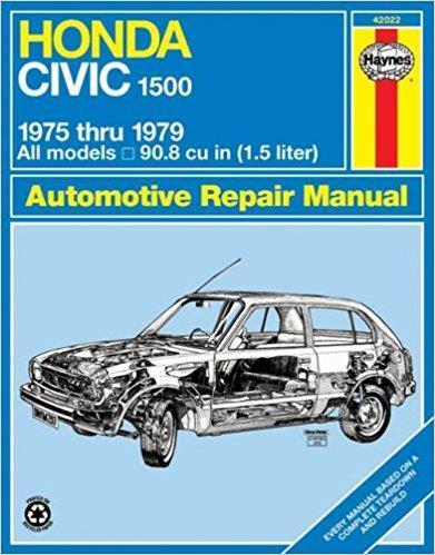 Honda Civic 1500 CVCC, 1975 - 1979 Haynes Owners Service & Repair Manual