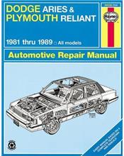 Dodge Aries & Plymouth Reliant 1981-1989 Haynes Owners Service & Repair Manual