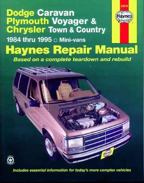 Dodge Caravan, Plymouth Voyager & Chrysler Town & Country 1984 - 1995 - Front Cover