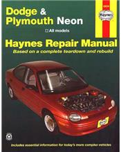 Dodge and Plymouth Neon 1995 - 1997 Haynes Owners Service & Repair Manual
