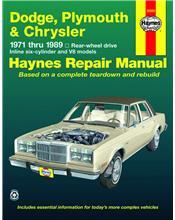 Dodge, Plymouth, & Chrysler RWD (Petrol) 1971 - 1989