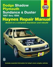 Dodge Shadow (Petrol) 1987 - 1994 Haynes Owners Service & Repair Manual